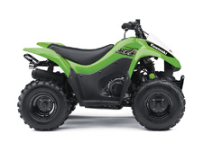 THE KFX90 ATV PROVIDES THE IDEAL BLEND OF SIZE AND PERFORMANCE FOR RIDERS 12 AND OLDER THAT ARE STEPPING-UP FROM A 50cc ATV OR JUST GETTING STARTED.